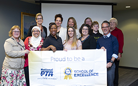 Campbell Elementary PTA and Mears Middle School PTSA have been honored as National PTA Schools of Excellence