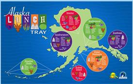 Variety of food found throughout Alaska