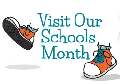 Visit our schools logo with tennis shoes