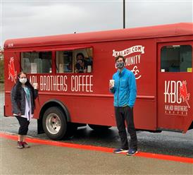 Coffee truck with 2 people
