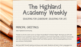 The Highland Academy Weekly