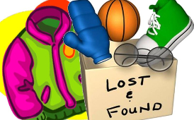 Check lost & found regularly!