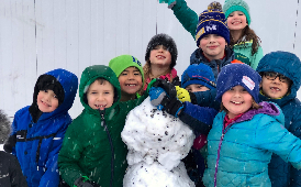 Snow and recess make for happy students!
