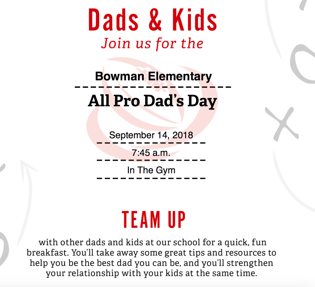 All Pro Dads-THIS FRIDAY! 9-14-18