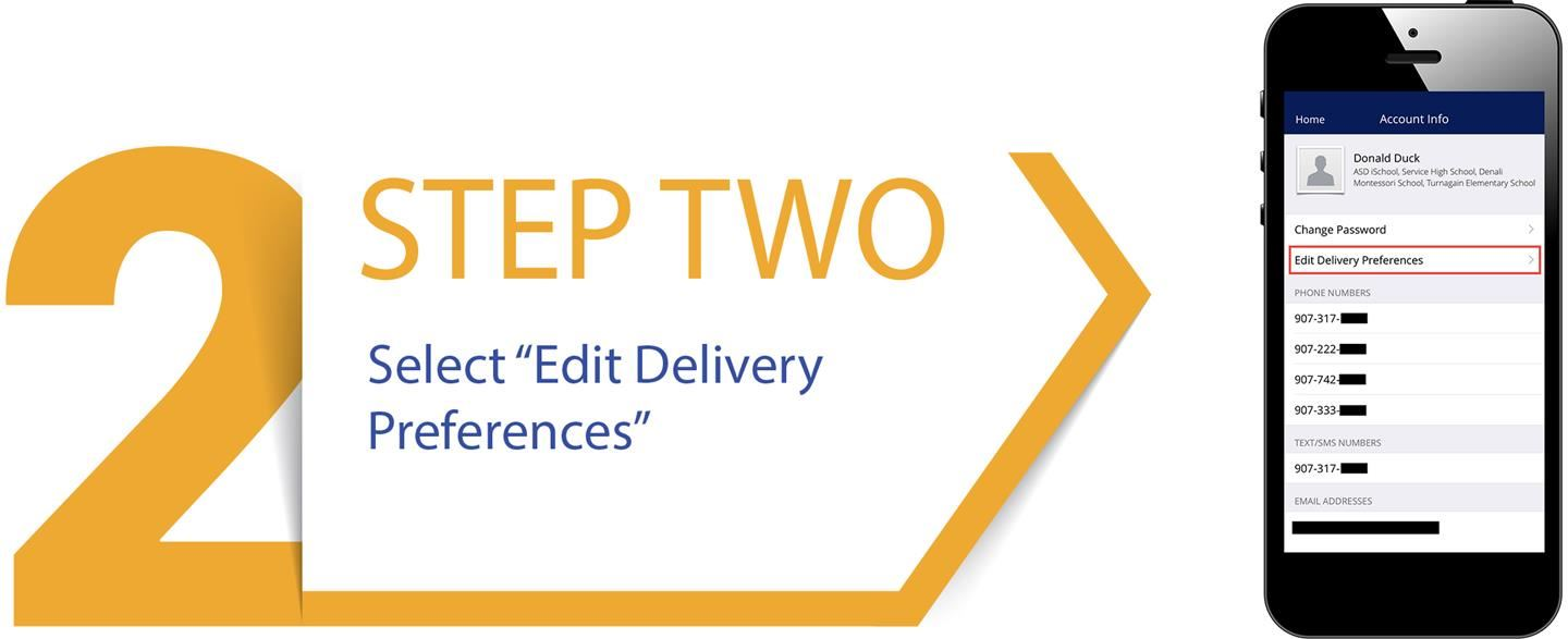 STEP TWO: Select Edit Delivery Preferences