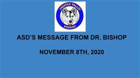 Message from Dr. Bishop