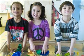 pre-k students playing