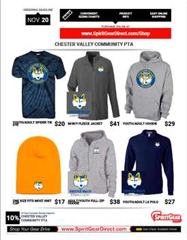 Chester Valley Spirit Wear