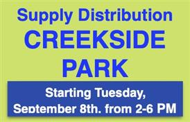 Student Supply Distribution Starting 9/8/2020
