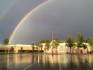 Rainbow over Baxter Elementary