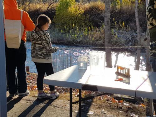 Outdoor classroom near stream
