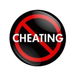 Cheating is discouraged