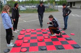Giant Checkerboard @ Recess