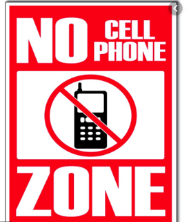No Cell Phones in School Zones - Read more here