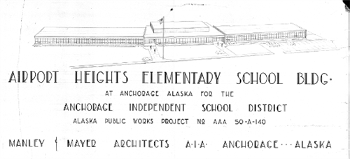 Architectual drawing of original 1954 building