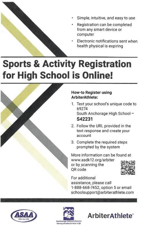 Sports and Activities Registration for High School Online