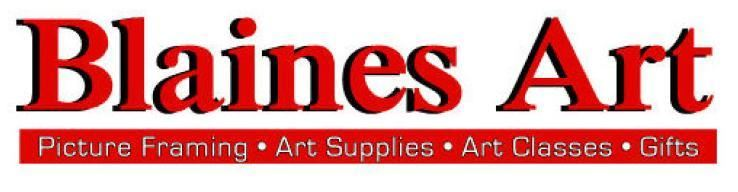 Blaines Art and Graphic Supply Logo