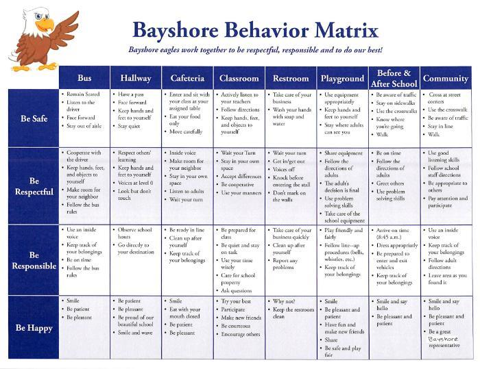 Behavior Matrix large version