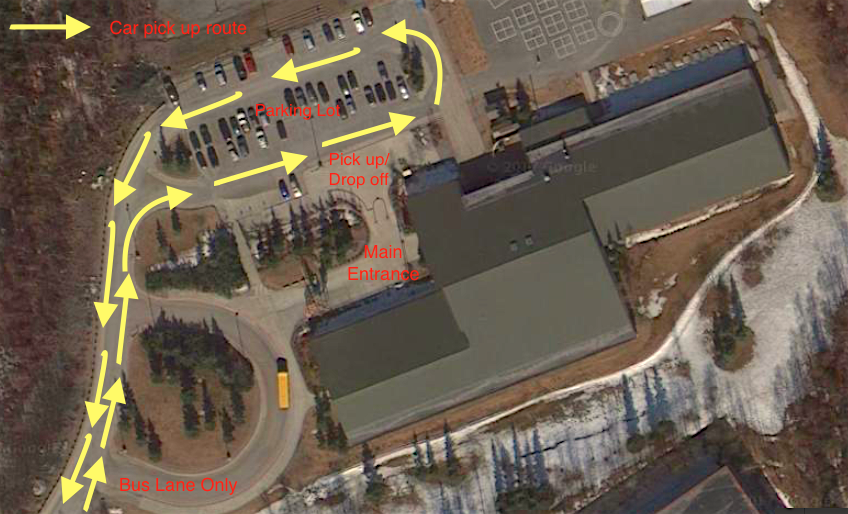School Map parking Lot