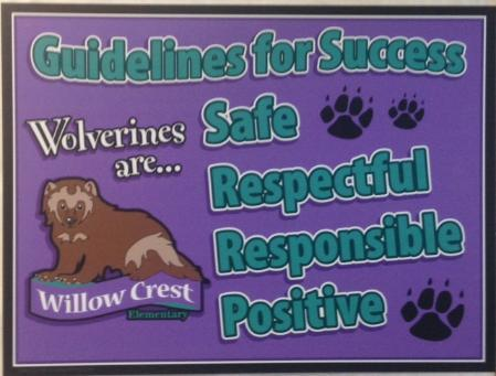 Guidelines for success - safe, respectful, responsible, positive.