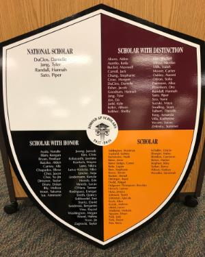 2017-2018 AP Award Shield