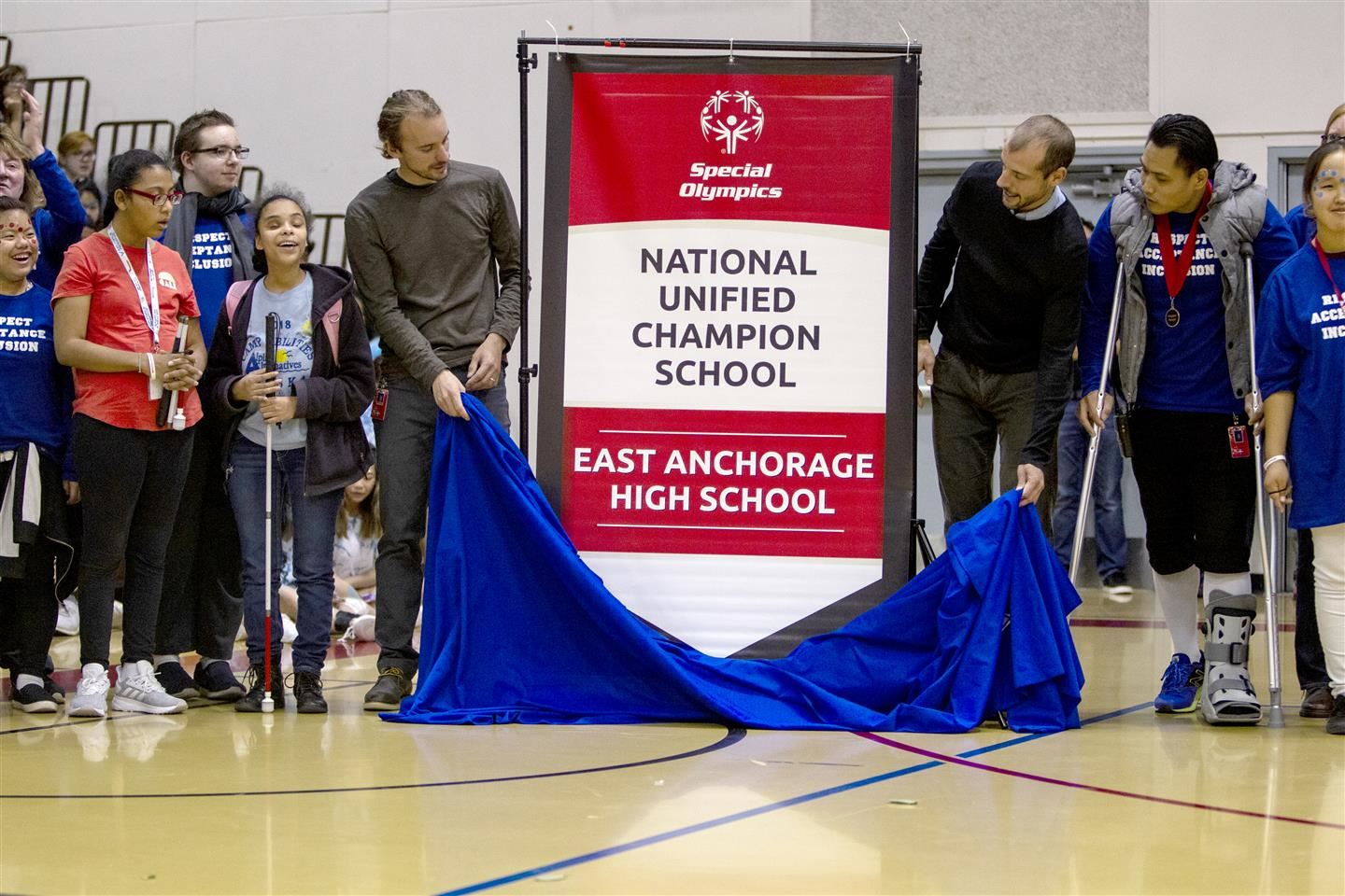 Unveiling the banner