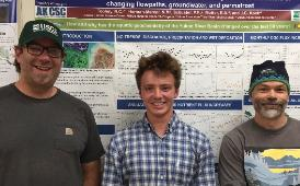 Ben Duhrsen with his mentors at the Alaska Climate Adaptation Science Center