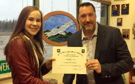 Eagle River AFJROTC Cadet Major Rylee Price Name Top Cadet