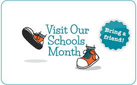 Visit our schools Month logo