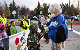 Tudor Elementary Takes Part in 20th Annual Walk to School Day