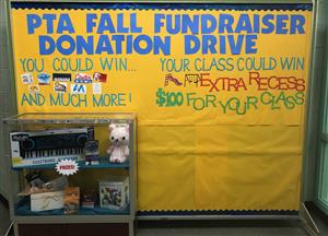 fall fundraiser bulletin board