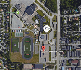 Romig Middle School satellite map