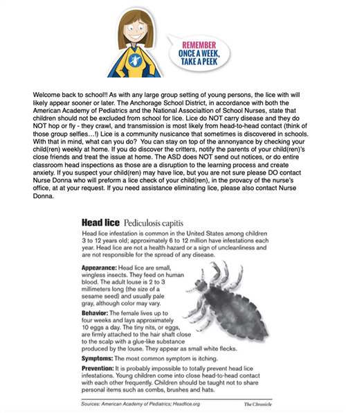 Lice Information Page