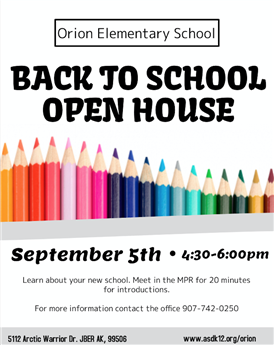 Orion Elementary Open House