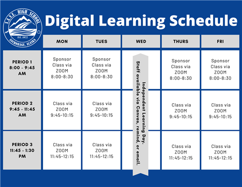 Digital Learning Schedule