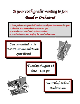 6th Grade Band and Orchestra Parent Night