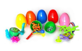 Easter eggs with toys inside