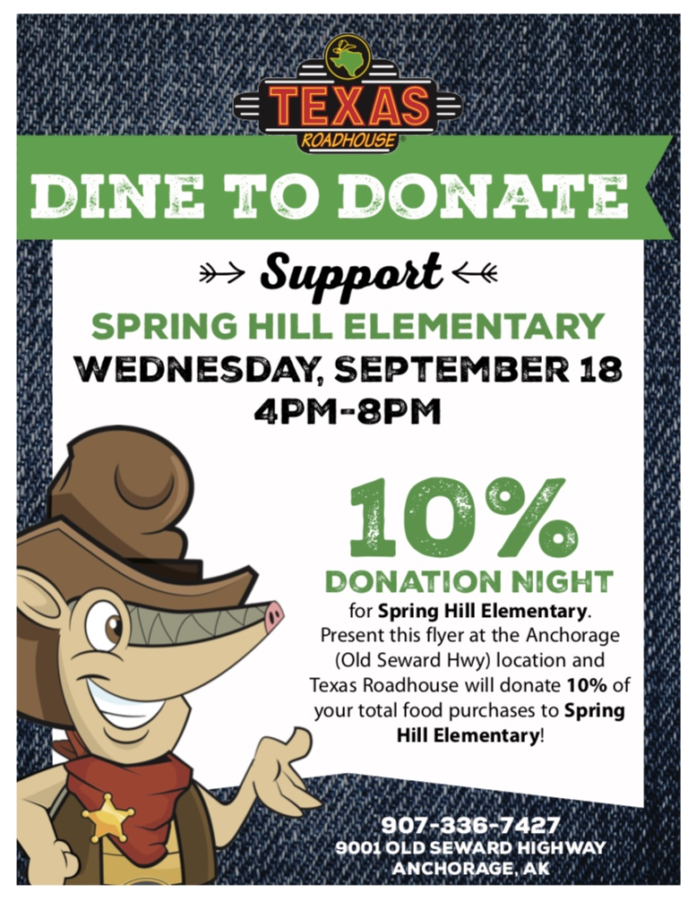 Dine to Donate Flyer