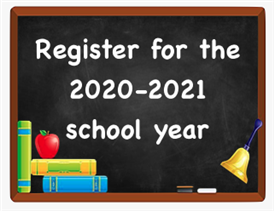 Online Registration for 2020 important information