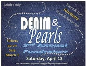Denim and Pearls 2nd Annual Fundraiser, Saturday April 13