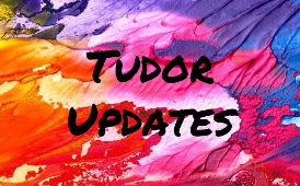 Tudor Updates on colorful background