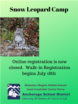 Snow Leopard Camp - July 29th - Aug 1st