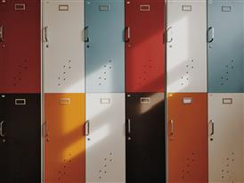 colorful lockers