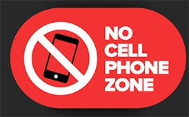 NO Cell Phones in School Zones