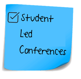 Sticky note with student lead conferences