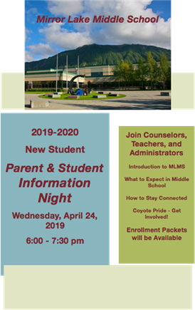 New Student Parent Information Night