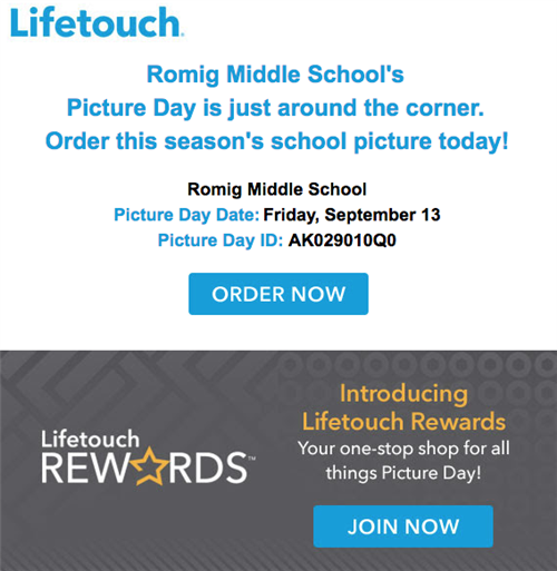 lifetouch picture day flier