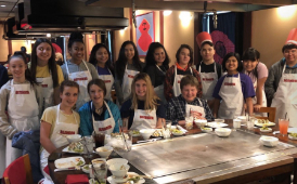 Romig students at Benihana