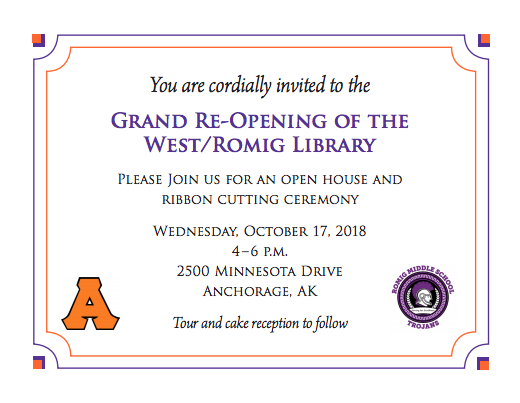 Library Open House Invitation
