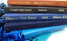 A Stack of Yearbooks